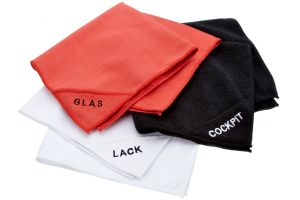 NIGRIN Set of microfiber towels